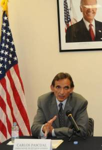 Carlos Pascual Embajador Estadounidense en México