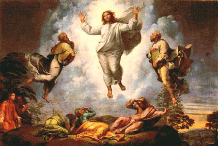 Resultado de imagen de la transfiguración en el arte