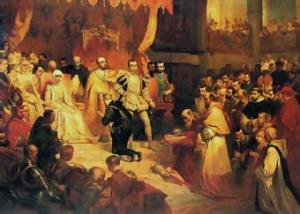 a abdicación de Carlos V