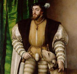 El emperador Carlos V (detalle de un retrato de Jakob Seisenegger)