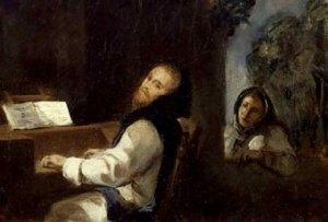 Carlos V en Yuste (1837), de E. Delacroix