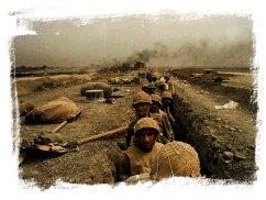 Soldados iraquíes en el frente
