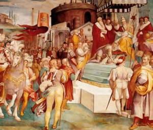 Carlos V anuncia al papa la conquista de Túnez